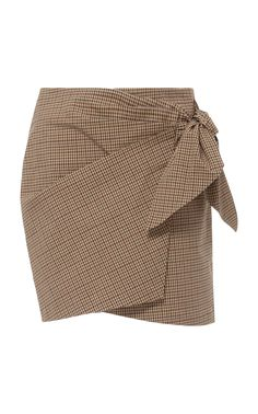 Ninon Gingham Wrap Mini Skirt by Isabel Marant Étoile Trumpet Skirt, Wrap Style, My Style, Rock, Outfits For Teens, Skirt Fashion, Street Styles, Work Wear, Printed Cotton