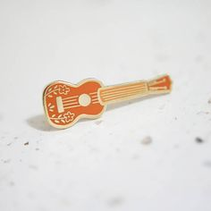 Brown Ukulele Enamel Pin // Hard Enamel - Enamel Pin - Pin - Lapel Pin - Flair - Brooch - Collar Pin - Hat Pin - By Justine Gilbuena