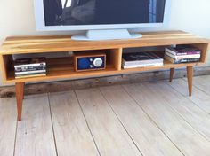 Mid century modern TV table/entertainment console by scottcassin