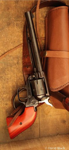 Heritage Rough Rider 22 Single Six Revolver. Modeled after the Colt Brown leather holster manufactured by Bull Creek. Gun Holster, Leather Holster, Weapons Guns, Guns And Ammo, Revolver Rifle, Western Holsters, Single Action Revolvers, Lever Action Rifles, Rough Riders