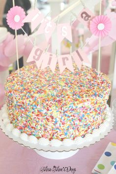 Baby Shower Sprinkle cake