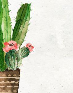 Boho Cactus print - Cactus wall art - Cottage chic - Rustic art print- Printable art gift - Cacti print - Watercolor cactus - Digital prints - Art - Informations About Boho Cactus print – Cactus wall art – Cottage chic – Rustic art print- Pri - Cactus Painting, Cactus Wall Art, Watercolor Cactus, Watercolor Background, Watercolor Landscape, Abstract Watercolor, Watercolor Paintings, Cactus Cactus, Simple Watercolor
