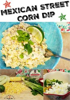 """Mexican Street Corn Dip Do you have a staple around your house that you just love? You can add it to just about any entree and it just """"fits""""? Mexican Corn Dip, Mexican Street Corn Salad, Corn Recipes, Chili Recipes, Smoking Recipes, Corn Salads, Tasty Dishes, Side Dishes, Entrees"""