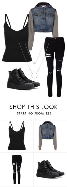 """Scream audrey jensen"" by svdalen on Polyvore featuring mode, Moschino, Miss Selfridge en Converse"