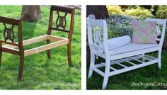 Thrift Store Furniture Transformations: Benches