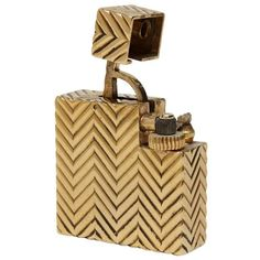 Cartier Art Deco Lighter   From a unique collection of antique and modern tobacco accessories at https://www.1stdibs.com/furniture/more-furniture-collectibles/tobacco-accessories/