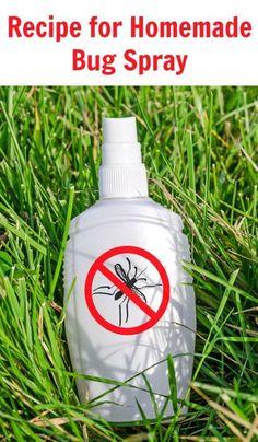Recipe for Homemade Bug Spray