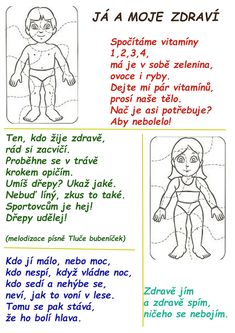 Texty písní a básniček | ZŠ Žalany Health Activities, Activities For Kids, Intense Ab Workout, Preschool Themes, School Humor, My Mood, Funny Kids, Human Body, Kindergarten