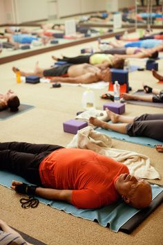 Before starting class, he poured water on the front of his towel, and his meditation beads are next to him. Simmons Family, Russell Simmons, Yoga Towel, Fashion Line, Hot Yoga, Stress Management, Meditation, Beads, Water
