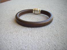 10mmx6mm Brown Leather Wristband Bracelet by DesignsbyPattiLynn, $40.00