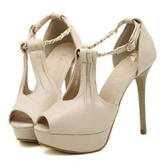 Shoespie Gorgeous Strap Buckle Decorated Sandals⊰⊹✿  http://www.ericdress.com/list/cheap-stiletto-sandals-101991/17/