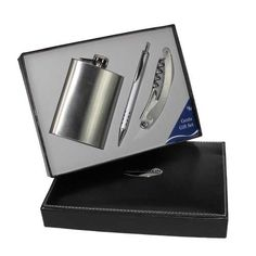 Engraved Hip Flask Gift Set with Pen and Waiters Friend 60th Birthday Gifts, Engraved Gifts, Fathers Day Gifts, Gifts For Him, Flask, Father's Day Gifts, 60th Birthday Presents