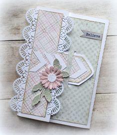 Birthday Greetings For Her Beautiful 19 Ideas Fun Fold Cards, Folded Cards, Diy Cards, Art Carte, Birthday Cards For Her, Shaped Cards, Quilling Cards, Beautiful Handmade Cards, Pretty Cards
