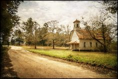 Down a forgotten road.  Powelton Baptist Church, Georgia.  A great old  church in a very tired old town.