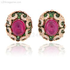 Rubies Earrings from Zorab Atelier De Creation-USA Gallery