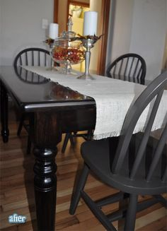 I want to do this! It is so pretty and I could get a table like this on craigslist