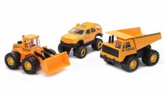 Mighty Wheels Construction Vehicles 3-Piece Set New in Box #MightyWheels