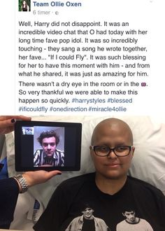 People wonder why I am so LITERALLY obsessed with Harry Styles.. not because he's a pop star, not because he is handsome or had loads of money... this is why. He is the most genuine, whole hearted, kind, loving and most giving person in all the world. I love you, Harry Edward Styles. And he loves all of us.❤
