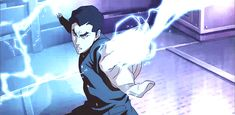 Mako lightning bending, Book 4 This is from the finale. I think the finale of The Last Airbender was far much better.