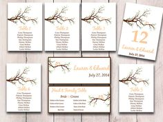 Wedding Seating Chart Template  Love Bird Seating Chart Download