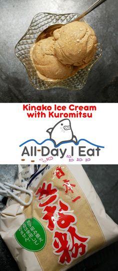 Kinako Ice Cream with Kuromitsu - All Day I Eat - like a shark Gourmet Recipes, Sweet Recipes, Dessert Recipes, Dessert Ideas, Easy Japanese Recipes, Japanese Food, My Dessert, Asian Desserts, Ice Cream Recipes