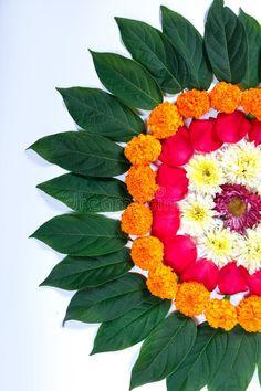 Marigold Flower Rangoli Design For Diwali Festival , Indian Festival Flower Decoration Stock Image - Image of diya, background: 128106441 Diwali Decoration Lights, Mandir Decoration, Diwali Decorations At Home, Backdrop Decorations, Festival Decorations, Flower Decorations, Rangoli Side Designs, Colorful Rangoli Designs, Rangoli Ideas