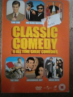 CLASSIC COMEDY 6 ALL TIME GREAT COMEDIES DVD BOX liar liar, the jerk Great Comedies, Classic Comedies, Dvds For Sale, Liar Liar, Groundhog Day, All About Time, Comedy, Blues, Box