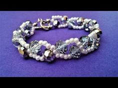 Pearls And Crystal Beads Bracelet Pattern. How to make an elegant bracelet in 10 minutes - YouTube