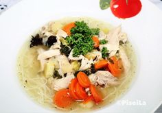 Cooking Fresh Chicken Soup  Such a healthy soup  if you ill . it will get better.  Frische Hühnersuppe gekocht . Hilft gegen Grippe und vorallem ist das so lecker . Kann nicht genug davon bekommen.  #cooking #hühnersuppe #huhn #chicken #chickensoup #lowcarb #diät #diet #health #healthylife #healthyeating #eatclean #abnehmen #Gesund #piseilakocht #piseilacooking by pisei_la