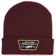 a82e5d094f The Milford Beanie is a acrylic cuff beanie with a Vans merrow-edged patch.