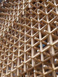 Wood fittings, used in Japanese puzzles, have already been applied to solid wood furniture. Now a cypress building has been assembled entirely from giant sized versions of the wood puzzle sticks, held together only by uniquely shaped joints. See a slide show.
