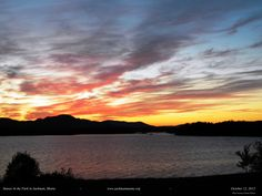 Sunset at Big Wood Lake in Jackman, Maine...October Beauty.