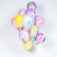 Rainbow Marble Balloons from Bonjour Fete - Kitty Meow Boutique - Unicorn Birthday Party