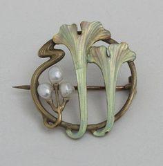 Art Nouveau Brooch Ca.1900