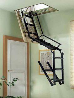 Escalera escamoteable plegable