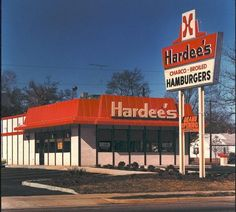 Old Hardee's-where my boyfriend (now husband) and I could eat cheaply ($1.26 for two) when we were broke college students.