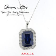 30.81ct Tanzanite & 3.30ctw CZ Solid .925 Sterling Silver Pendant Necklace. Starting at $1