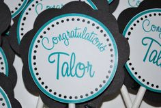 Wedding Cupcake Topper by TheSouthernSoiree on Etsy, $10.00