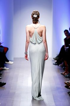 Lazaro wedding gown back detail