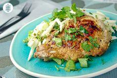 Pork Chops n' Slaw made easy. Discover Goodfood's Pork Chops n' Slaw meal kit delivery featuring farm-fresh ingredients. Tahini, Chou Rave, Vinaigrette, Lime Dressing, Pork Chops, Salmon Burgers, Make It Simple, Meals, Fresh