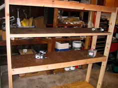 diy garage shelf
