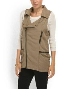Linen Blend Utility Vest