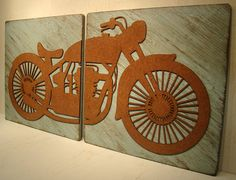 Vintage Motorcycle Decor, Rustic Sign, Motorbike Sign,Vintage Sign, Shabby Sign, Motorcycle, Harley Davidson, Indian, Motorcycle Wall Art