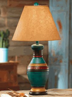 Southwest table lamp from southwestern lamps southwestern santa fe table lamp aloadofball Gallery