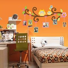 KitMax (TM) Removable Personalized Cartoon Owl Tree Family Photo Frame Nursery Bathroom Kitchen Bedroom Dining Living Room Mirror Office Dorm Home DIY Modern Art Wall Decor Stickers Baby Playroom, Playroom Decor, Rooms Home Decor, Baby Room Decor, Wall Decals For Bedroom, Wall Decor Stickers, Mural Wall, Family Photo Frames, Flower Room