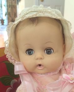 Your place to buy and sell all things handmade Vintage Baby Toys, Vintage Car Party, Vintage Toys 1960s, Vintage Dolls, Vintage Pink, Baby Doll Hair, Baby Dolls, Vintage Wedding Guest Dresses, Summer Christmas Gifts