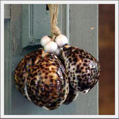 Seashell tassel. Natural vertagus shells create this tassel cluster ...