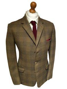 John G Hardy Men&39s tweed check blazer jacket size 46 short | eBay