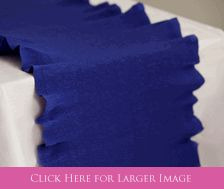 Paper Table Runners of Heavy-weight crepe imported from Italy. Can lay flat or easily ruffled along the edges.