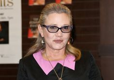 "Actress Carrie Fisher signed copies of her new book ""The Princess Diarist"" at Barnes & Noble at The Grove on November 28, 2016 in Los Angeles, California."